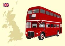 Autobús de dos pisos ilustración del vector