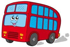 Autobús de dos pisos de la historieta Foto de archivo