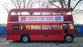 Autobús de dos pisos de la obra clásica de Londres Fotografía de archivo libre de regalías