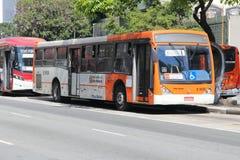 Autobús de la ciudad de Sao Paulo Foto de archivo