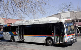 Autobús de la ciudad del aire limpio Fotos de archivo libres de regalías