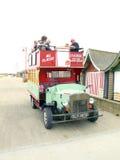 Autobús de la diversión de la 'promenade', Sutton-en el mar. Foto de archivo libre de regalías