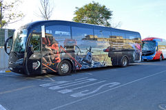 Autobús de la raza del océano de Volvo Imagenes de archivo