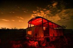 Autobús de noche Fotografía de archivo