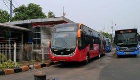 Autobús de TransJakarta Foto de archivo libre de regalías