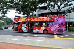Autobús de visita turístico de excursión Fotos de archivo