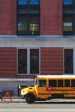 Autobús del amarillo de Nueva York Imagenes de archivo