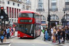 Autobús del circo de Piccadilly Foto de archivo libre de regalías