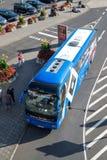 Autobús del equipo del departamento del fútbol de Hamburgo SV fotos de archivo