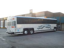 Autobús del galgo Fotografía de archivo libre de regalías