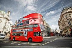 Autobús del rojo de Londres Foto de archivo