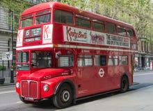 Autobús del rojo de Londres Fotografía de archivo