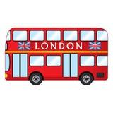 Autobús del rojo de Londres del vector Autobús de dos pisos del rojo del vector Imágenes de archivo libres de regalías