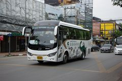 Autobús del viaje de CCT Express Transport Company Imágenes de archivo libres de regalías