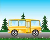 Autobús en el camino Imagen de archivo