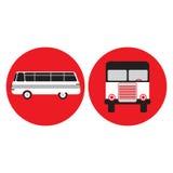 Autobús en el estilo retro, ejemplo del vector Fotos de archivo libres de regalías