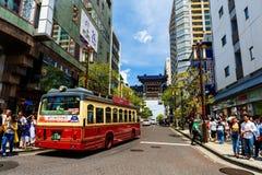 Autobús en la ciudad de Yokohama China fotos de archivo libres de regalías
