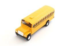 Autobús escolar amarillo del juguete Fotografía de archivo libre de regalías