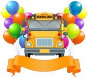 Autobús escolar americano ilustración del vector