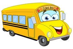 Autobús escolar de la historieta ilustración del vector