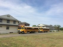 Autobús escolar de los E.E.U.U. Foto de archivo