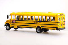 Autobús escolar del juguete Imágenes de archivo libres de regalías