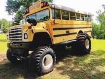 Autobús escolar del monstruo Foto de archivo libre de regalías
