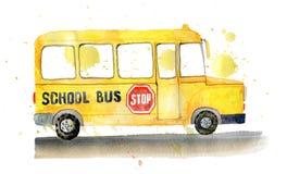 Autobús escolar en el lado Foto de archivo