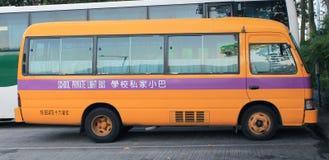 Autobús escolar en Hong-Kong Imagen de archivo
