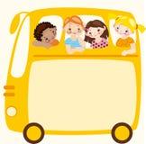 Autobús escolar. Lugar para su texto. Imagenes de archivo