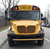 Autobús escolar parqueado Imágenes de archivo libres de regalías