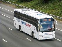 Autobús expreso nacional Imagen de archivo libre de regalías