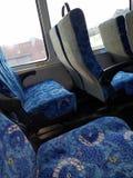 Autobús expreso vacío de NYC fotografía de archivo