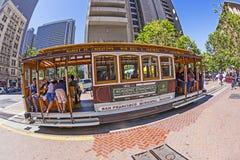 Autobús famoso del teleférico cerca Fotografía de archivo libre de regalías