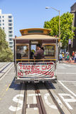 Autobús famoso del teleférico cerca Foto de archivo