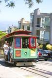 Autobús famoso del teleférico cerca Imagen de archivo