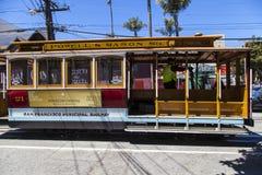 Autobús famoso del teleférico en Powell Fotografía de archivo