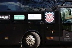 Autobús FSV Francfort del equipo Foto de archivo