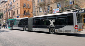 Autobús largo Egged en Jerusalén Fotos de archivo libres de regalías