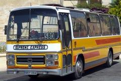 Autobús maltés del vintage Fotos de archivo libres de regalías