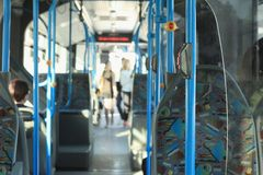 Autobús público de la ciudad Fotografía de archivo libre de regalías