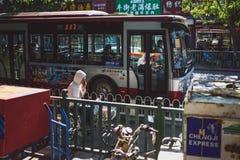 Autobús público en Pekín Imagen de archivo libre de regalías