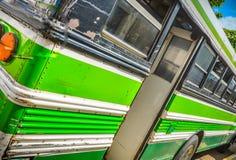 Autobús público, visión trasera, Costa Rica, America Central imagen de archivo
