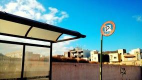 Autobús Santa Cruz de Tenerife de la estación Imagenes de archivo