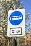 Autobús solamente Fotos de archivo libres de regalías