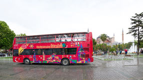 Autobús turístico en Estambul imágenes de archivo libres de regalías