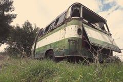 Autobús viejo abandonado Fotografía de archivo libre de regalías