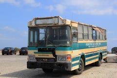 Autobús viejo en Santorini Foto de archivo libre de regalías