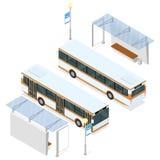 Autobús y refugio Imagenes de archivo