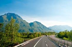 Autobahn. In Austrian Alps near Italy border royalty free stock photography